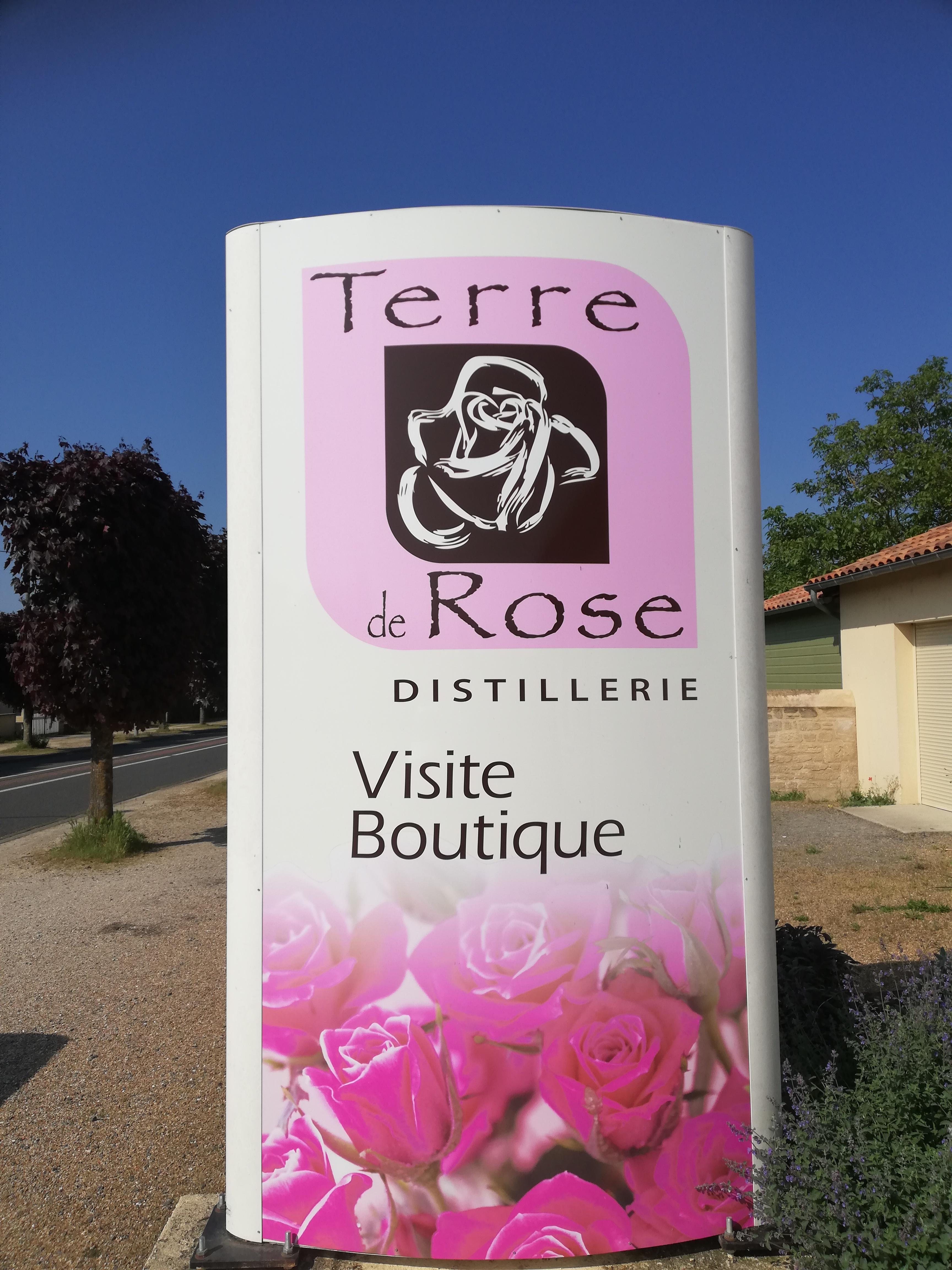 Entrée de la boutique Terre de Rose